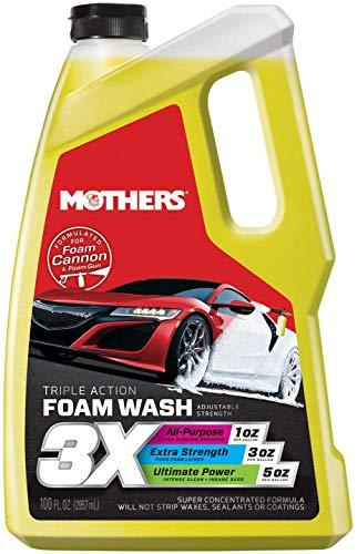 Mothers 05610 3X Triple Action Foam Wash, 100 fl. oz.