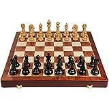 Juego de ajedrez de metal grande para adultos, 50,8 x 50,8 cm, tablero de ajedrez plegable de madera para piano, metal hecho a mano, juego de ajedrez para niños (color: juego grande de ajedrez A)