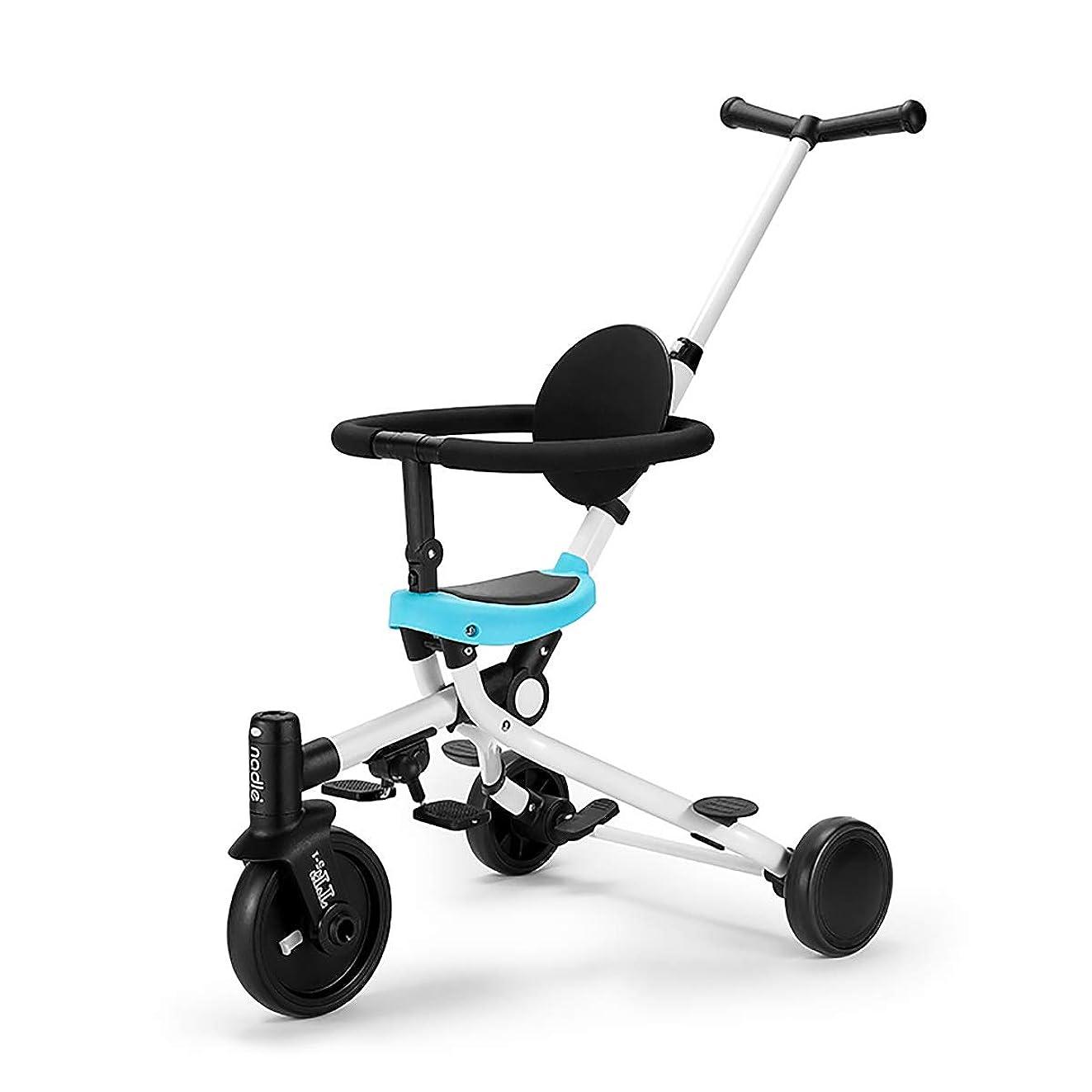 納得させる料理をする伝統的2年保証 子供三輪車 舵取り 棒 三輪車 2 歳 3 歳 三輪車 折りたたみ かじとり 補助 付き 人気 回転式 一台四役 幼児用トライク12ヶ月から6歳まで使 手押し棒付き お出かけ 乗用玩具 子供 用 三輪 自転車