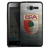 DeinDesign Silikon Hülle kompatibel mit ZTE Blade L3 Hülle schwarz Handyhülle FC Augsburg Beton Offizielles Lizenzprodukt