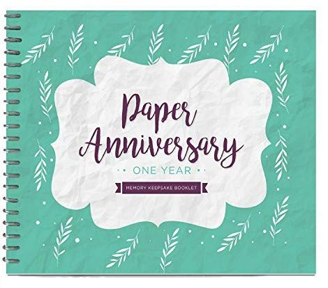 Unique 1st Wedding Anniversary Memory Book with Stickers and A Matching Card - Special Memory Journal  sc 1 st  Amazon.com & 1 Year Anniversary Gifts for Boyfriend: Amazon.com