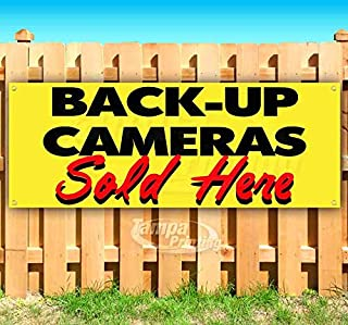 Back UP Cameras Sold HERE 13 oz Heavy Duty Vinyl Banner Sign with Metal Grommets, New, Store, Advertising, Flag, (Many Sizes Available)