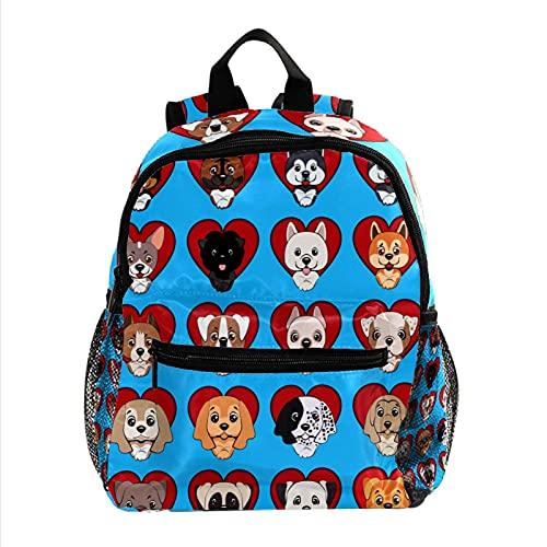 Liangbaiwan Mochila escolar para niñas niños mochila informal bolsa de viaje para senderismo Veinte perros vinieron con múltiples bolsillos