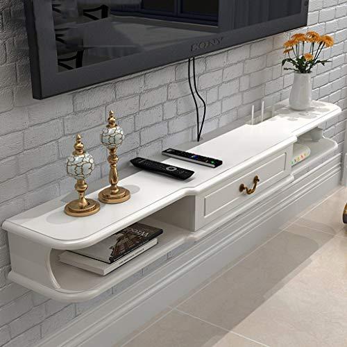 Étagère Étagère murale avec meuble de rangement pour meuble de télévision, console de jeu et étagère de jeu avec meuble à tiroir (Couleur : MDF)