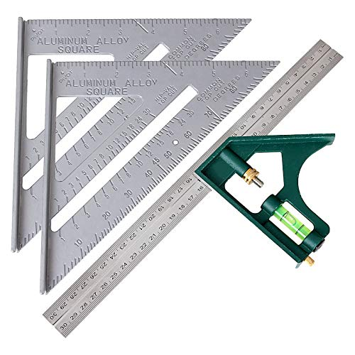 WENCHENG Combination Square and Rafter Square Tool Set, 2...