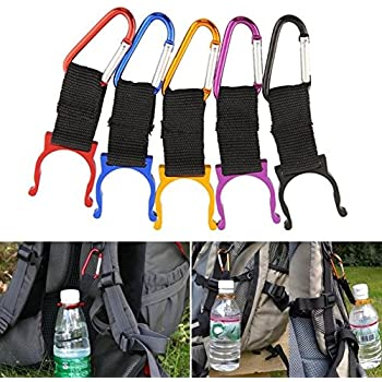 5Pcs Water Bottle Holder Hook Buckle Clamp Clip Camping Climbing Travel Outdoor