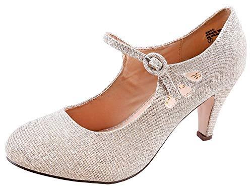 Zapatos Tacon Nude  marca Chase & Chloe