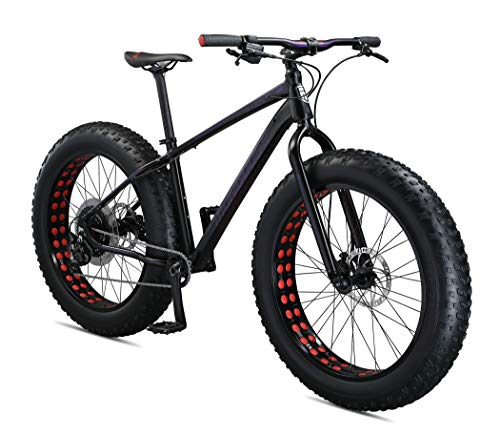 Mongoose Argus Sport Adult Fat Tire Mountain Bike, 26-Inch Wheels, Tectonic T2 Aluminum Frame, Hydraulic Disc Brakes, Medium Frame, Black