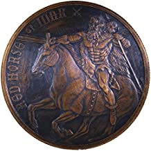 Red Horse of War (Four Horsemen Series) 1 oz .999 Pure Copper Round/Challenge Coin by Jig Pro Shop LLC (Copper w/Black Patina)