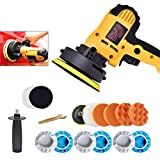 Timstono Buffer Polisher, 700W 5' Variable Speed Polisher Kit with 500-3500rpm/min Detachable Handle Rotary Car Buffer Polisher Waxer, for Boat,Car Polishing and Waxing