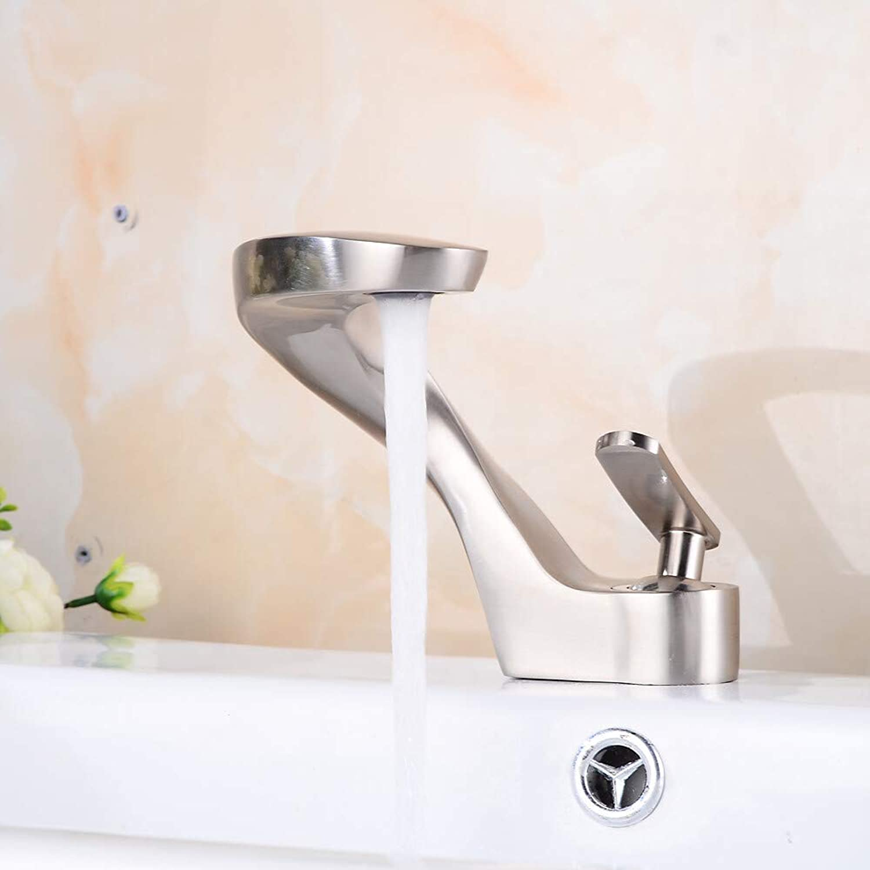 Novopus Bathroom faucet:Bathroom Sink Faucet - Widespread Nickel Brushed Centerset Single Handle One Hole