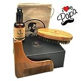 Kit barbe HAUTE QUALITÉ pour entretien barbe avec huile ORGANIQUE 100% NATURELLE...