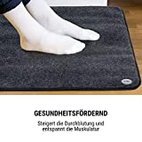 oneConcept Magic Carpet DLX Heizmatte Heizteppich, 60 x 70 cm, Leistung: 190 Watt, 4 Temperaturstufen, Timer-Funktion, LCD-Display, rutschfest, anthrazit - 7