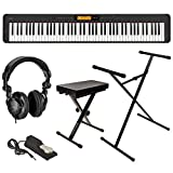 KIT INCLUDES: Casio CDP-S350 88-Key Compact Digital Piano | Casio Sustain Pedal (SP-3) | Sheet Music Stand | AC Adapter | Cushion Bench | Sturdy Lightweight Adjustable Stand | Full-sized Sustain Pedal | H&A Studio Monitor Headphones KEY FEATURES: Pia...