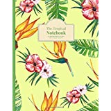 """The Tropical Notebook: Express Yourself, 100 Sheets Wide Ruled Line Paper, 8.5"""" x 11"""" (21.59 x 27.94 cm)"""