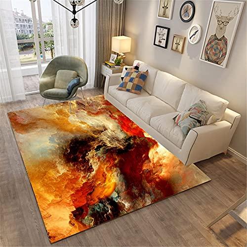 LBMTFFFFFF Alfombra para el hogar, salón, estilo moderno, rectangular, grande, para dormitorio, mesita de noche, agradable al tacto, 100 x 100 cm