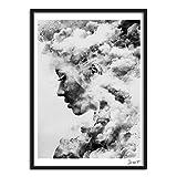 SWIDUUK-painting Modernes Smoky Mädchen Hochformat Leinwand Art Poster Gemälde Wandbild Home Decor?, 40*50cm