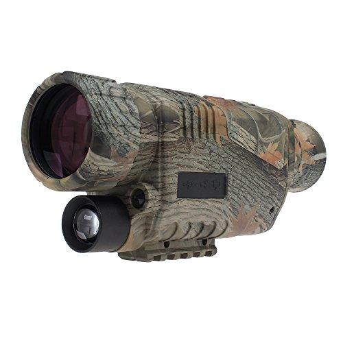 BOBLOV, monocolo a infrarossi LCD, per visione notturna, con funzione dizoom 5x40, registrazione di video e foto (lingua italiana non garantita)