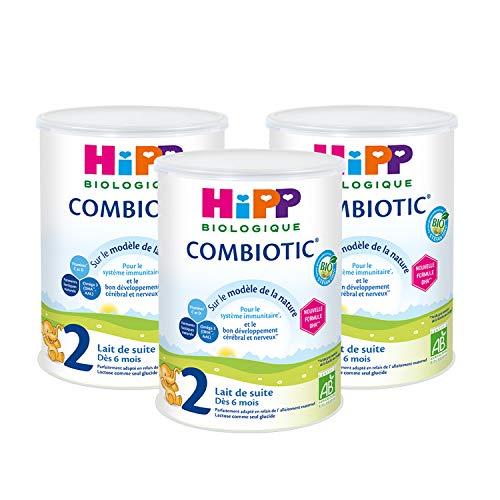 Hipp Biologique Lait 2 Combiotic de Suite 800 g - Lot de 3