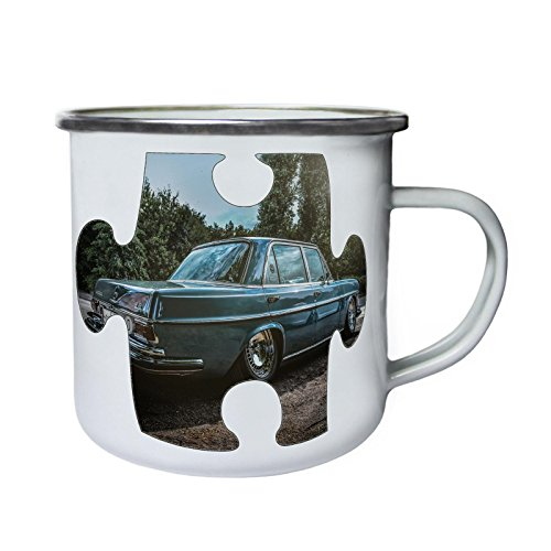 Puzzle Vintage Car Picture Image Nuevo Retro, lata, taza del esmalte 10oz/280ml...