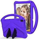 Cookk 10.1' Kids Case for Lenovo Tab E10 TB-X104F /Lenovo Tab 4 10 /Tab4 10 Plus 10'/Moto Tab TB-X704A, Shockproof Case for Kids Bumper Cover Handle Stand Lightweight Protective Covers, Purple