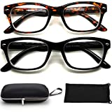 Nearsighted Myopia Distance Shortsighted Glasses for Men Women (3.00, 2 Count (Pack of 1))