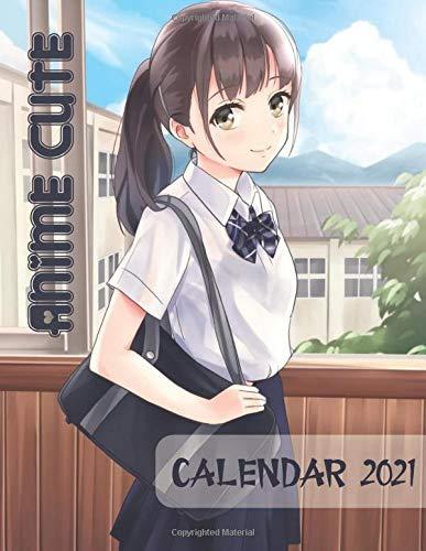 2021 Calendar: Anime Cute Girls - Big Size 17''x11''(WxH)