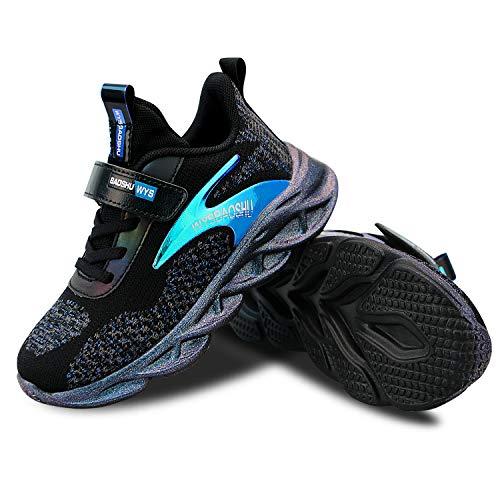 Unisex Kinder Schuhe Shoes Sportschuhe Ultraleicht Atmungsaktiv Turnschuhe Klettverschluss Low-Top Sneakers Laufen Schuhe Laufschuhe für Mädchen Jungen 28-37