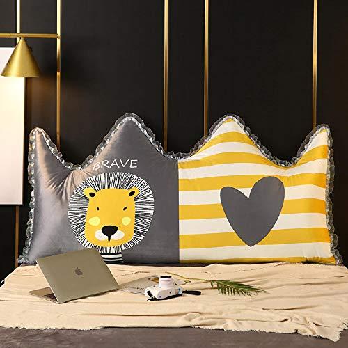 YLBH Cojín para mesita de noche, cama, respaldo grande, almohada extraíble y lavable, bolsa suave, cojín doble de dibujos animados Tatami 90 x 50 cm de ancho
