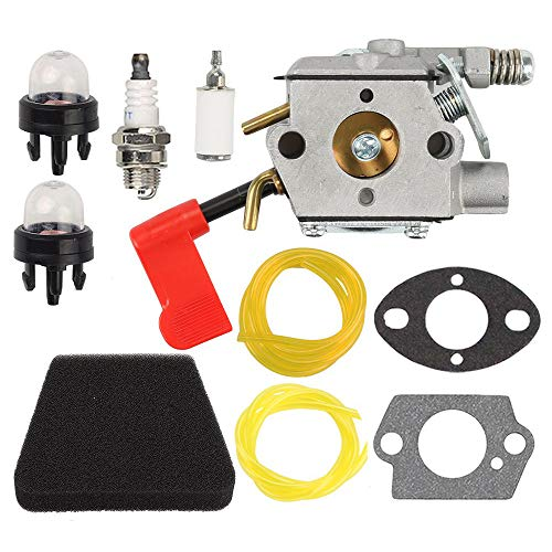 Anzac WT-628 Carburetor Air Filter Tune up kit for Craftsman Sears Poulan 32cc Gas Trimmer Weedeater Pole Pruner PPB100 PPB200 PPB300 PPB350 PP031 PP033 PP035 PP036 PP131 PP135 PP136 PP336 PP446T