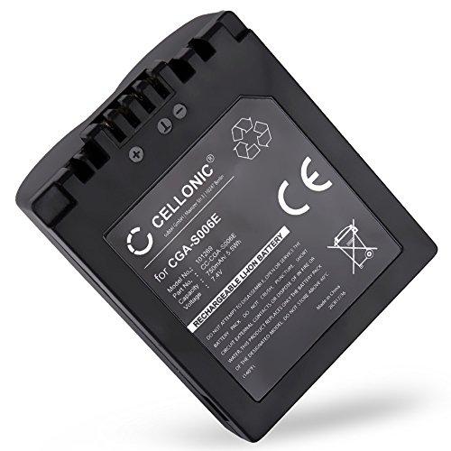 CELLONIC® Akku kompatibel mit Leica V-LUX 1 kompatibel mit Panasonic Lumix DMC-FZ8 DMC-FZ7 DMC-FZ18 DMC-FZ28 DMC-FZ30 DMC-FZ35 DMC-FZ38 DMC-FZ50 CGR-S006e -S006a DMW-BMA7 BP-DC5 Ersatzakku Batterie