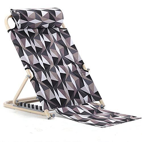 SXFYGYQ Bettstuhl Verstellbare Komfortstütze Zusammenklappbar zum Lesen des Frühstücks auf dem Bett oder im Freien