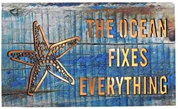 Two Kings The Ocean Fixes Everything Pressed Wood Sign LED Light