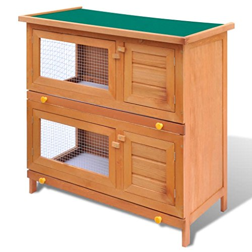vidaxl rabbit hutch