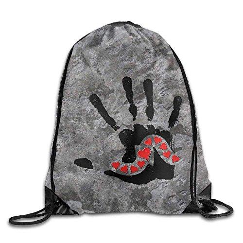 DearLord Love Initial Swagg Sack Bag Kordelzug Rucksack Sporttasche für Herren