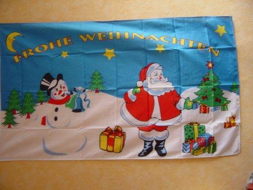 Fahnen Flaggen WEIHNACHTEN / WEIHNACHTSMANN SCHNEE 2 150 x 90 cm Fahne Flagge