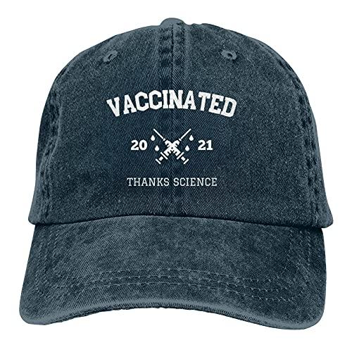 2021 Gracias Ciencia Tengo un gorro vacunado para el verano Cómoda gorra de béisbol ajustable para hombres mujeres adultos