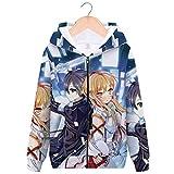 YOYOSHome Anime Sword Art Online Hoodie Kirito Asuna Sweatshirt Jacket Costume Sweater Fleeces