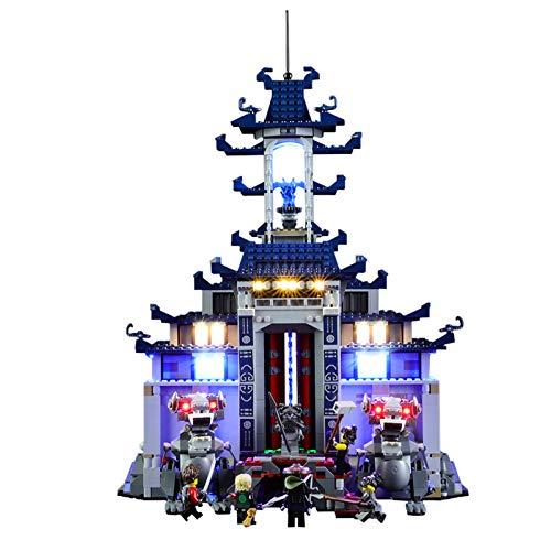 QZPM Kit De Iluminación En (Ninja Phantom Dragon) Bloques De Construcción De Modelos, Kit Luz Led Compatible con Lego 70617 (No Incluido El Modelo)