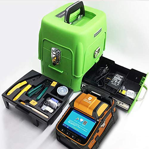 D YEDEMC SM&MM Automatic Fiber Optical Fusion Splicer Integrate Visual Fault Locator and Optical Power Meter (Ai-9) & Fiber Cleaver Kit (Green_Box_Ai-9)