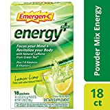 Includes 18 single-serving packets (0.32 oz. each) of Emergen-C Energy+ in Lemon-Lime flavor Focus your mind and revitalize your body with Natural Caffeine from Green Tea* This power-packed formula has immune-supporting Vitamin C to help support your...