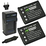 Wasabi Power Battery (2-Pack) and Charger for Nikon EN-EL10 and Nikon Coolpix S60, S80, S200, S210, S220, S230, S500, S510, S520, S570, S600, S700, S3000, S4000, S5100