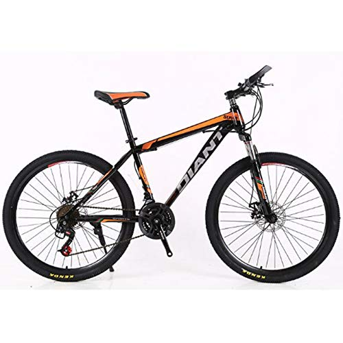 Bamop 26in Bicycle 21 Speed Carbon Steel Mountain Bike Full Suspension MTB Bikes for Men and Women,Outroad Mountain Bicycle, Suitable for Adult and Teens (Black)