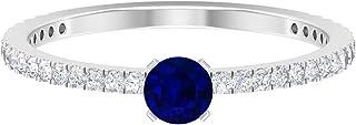4 MM Solitaire Engagement Ring, D-VSSI Moissanite Ring, Gold Promise Ring 14K White Gold