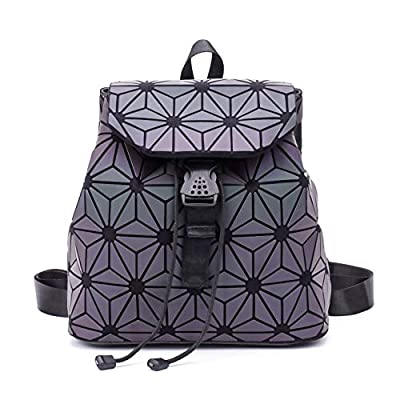 Geometric Backpack Luminous Backpacks Holographic Reflective Bag Lumikay Bags Irredescent Rucksack Rainbow NO.6