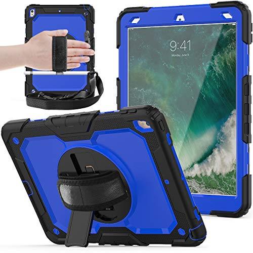 Tablet PC Bolsas Bandolera Adecuado para iPad PRO10.5 / AIR3 (2019), soporte giratorio de 360 grados con correa para el hombro y cubierta protectora para correa de mano + cubierta protectora de sili