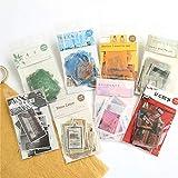 BLOUR 40 unids/Set Bolsa de Pegatinas de la Serie de Libros de imágenes de Ventana, Diario de Sal Fresca literaria y artística, Pegatina de papelería Kawaii