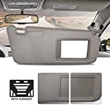 Make Auto Parts Manufacturing Passenger Side Gray Windshield Sun Visor for Toyota Camry with Sunroof and Light 2007 2008 2009 2010...