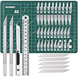Exacto Knife Precision Carving Craft Hobby Knife Kit with 40 PCS Exacto Blades for DIY Art Work Cutting, Hobby, Scrapbooking, Stencil