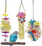 KATUMO 4 Pcs Bird Parrot Toys, C...